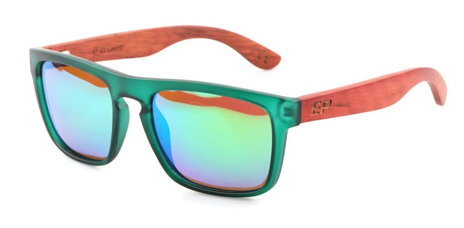 Green Transparent: Green Mirror lens sunglasses