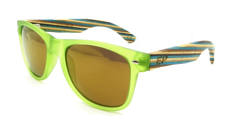 Green Transparent Stripe sunglasses