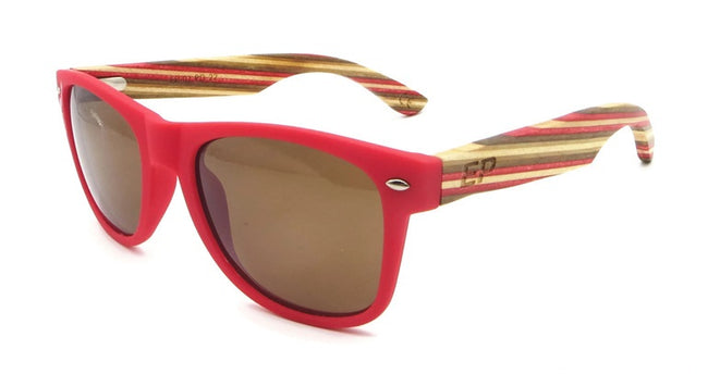 Red Matte Stripe sunglasses