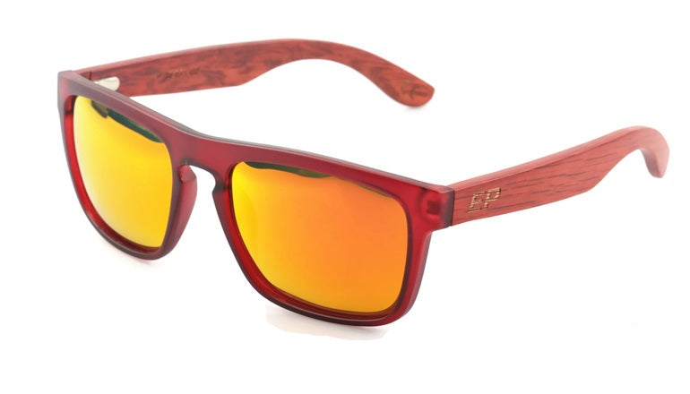 Red Transparent: Red Mirror lens sunglasses