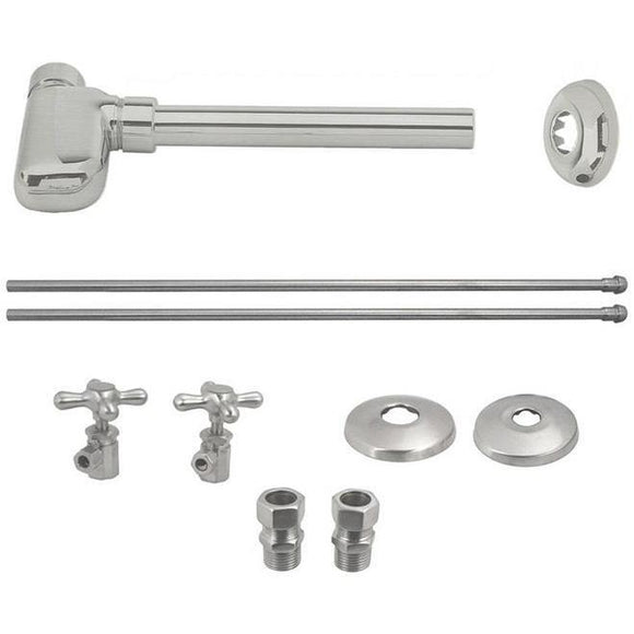 WESTBRASS D1938L European Pedestal Lavatory Kit Cross Handles