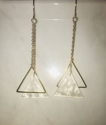 Equilateral Drop Earrings