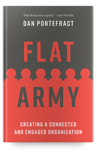 FLAT ARMY book - signed by the author, Dan Pontefract