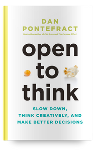 OPEN TO THINK book - signed by the author, Dan Pontefract