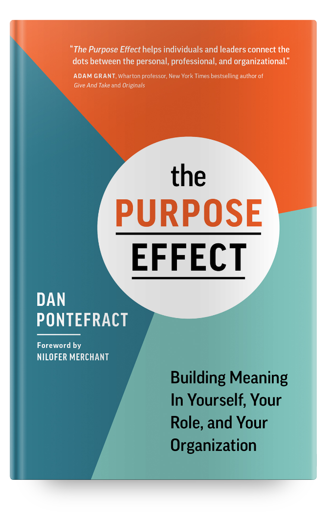 THE PURPOSE EFFECT book - signed by the author, Dan Pontefract