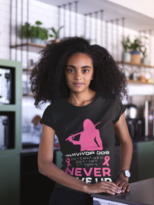 Breast Cancer Awareness T-Shirt, Perfect Breast Cancer Gift, Never Give Up