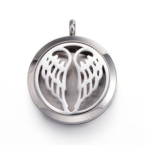 Angel Wings -  Stainless Steel Diffuser Locket Pendants