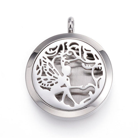 Fairy-  Stainless Steel Diffuser Locket Pendants