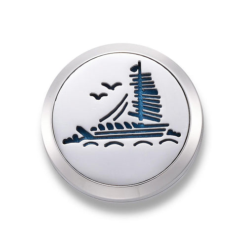 Sail Boat Design -  Essential Oil Car Diffuser Locket