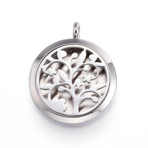 Tree of Life -  Fancy Design Stainless Steel Diffuser Locket Pendants