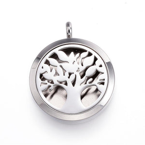 Tree of Life -  Thick Design Stainless Steel Diffuser Locket Pendants