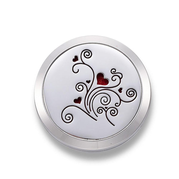 Heart & Flower - Essential Oil Car Diffuser Locket