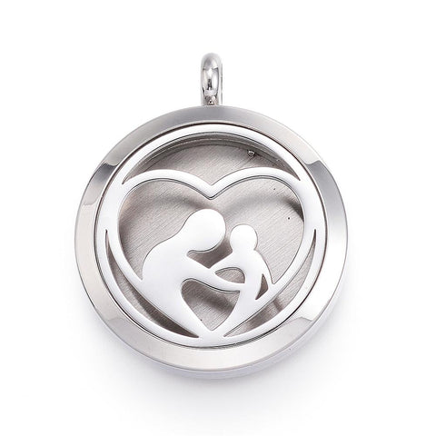 People -  Stainless Steel Diffuser Locket Pendants