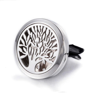 Tree Of Life - Leaves Essential Oil Car Diffuser Locket