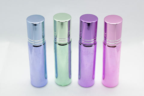 Metallic Roller Bottles Glass with Steel roller 10ml