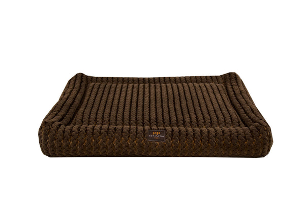 Orthopedic Rectangle Dog Beds - dark brown
