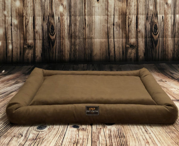 Brown Orthopedic Dog Bed