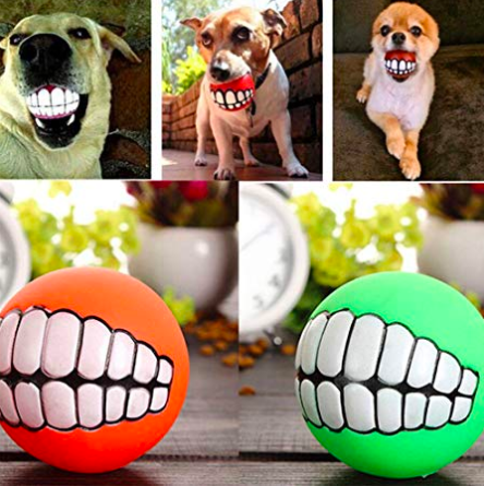 Funny Teeth Dog Ball