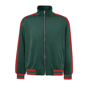 Retro Trackjacket - Green / Red - Premium Quality & Affordable Streetwear