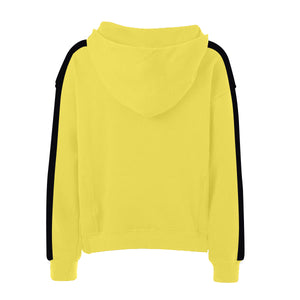 Oversized Stripe Drawstring Hoodie - Yellow/Black - Insurgence Wear - Affordable Streetwear Essentials