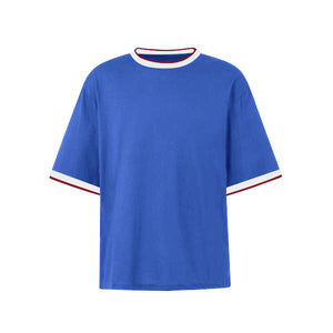 Oversized Single Stripe Tee - Blue - Quality Affordable Streetwear