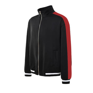 Retro Trackjacket - Black / Red - Quality Affordable Streetwear
