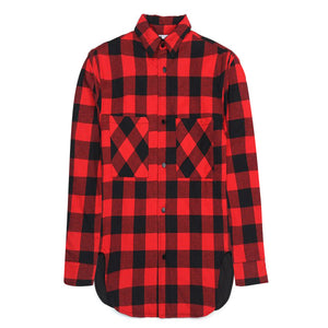 Oversized Plaid Flannel - Red - Quality Affordable Streetwear