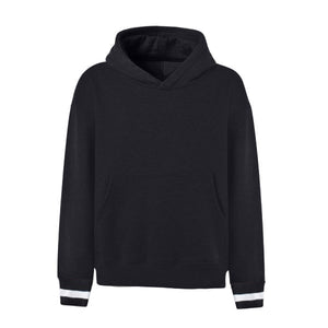 Contrast Cuff Oversized Hoodie - Black - Insurgence Wear - Affordable Streetwear Essentials