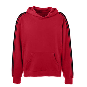 Dual Stripe Hoodie - Red - Insurgence Wear - Affordable Streetwear Essentials