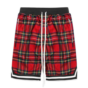 Plaid Shorts - Red - Insurgence Wear - Affordable Streetwear Essentials