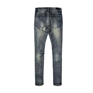 Dirty Ripped Zipper Denim