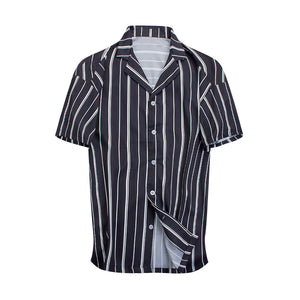 Striped Summer Shirt - Black - Insurgence Wear - Affordable Streetwear Essentials