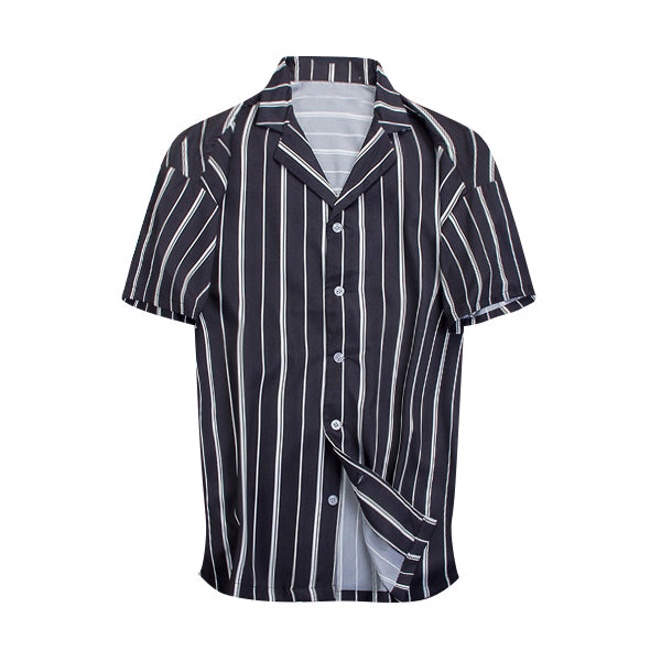 Striped Summer Shirt - Black - Insurgence Wear - Streetwear Essentials
