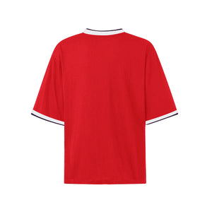 Oversized Single Stripe Tee - Red - Quality Affordable Streetwear