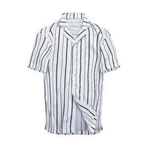 Striped Summer Shirt - White - Quality Affordable Streetwear