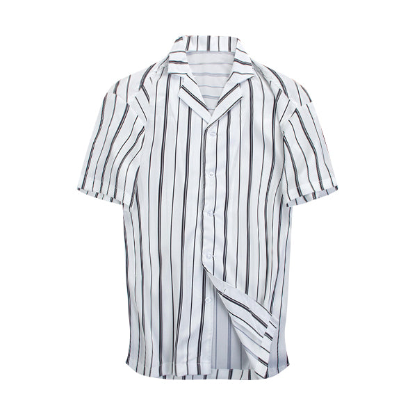 Striped Summer Shirt - White - Insurgence Wear - Affordable Streetwear Essentials
