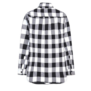 Oversized Plaid Flannel - Black - Quality Affordable Streetwear