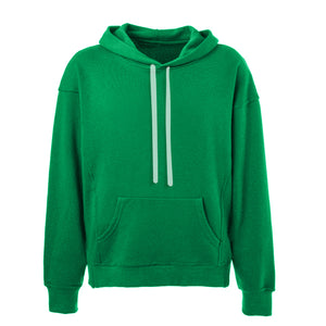 Oversized Stripe Drawstring Hoodie - Green/White - Insurgence Wear - Affordable Streetwear Essentials