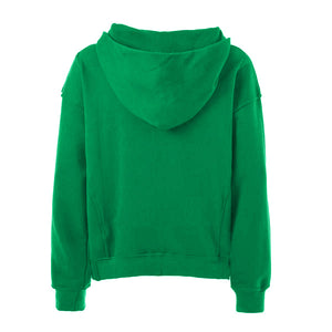 Oversized Stripe Drawstring Hoodie - Green/White - Insurgence Wear - Streetwear Essentials