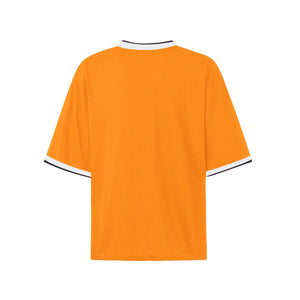Oversized Single Stripe Tee - Orange - Quality Affordable Streetwear
