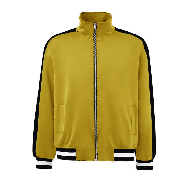 Retro Trackjacket - Yellow / Black - Insurgence Wear - Affordable Streetwear Essentials