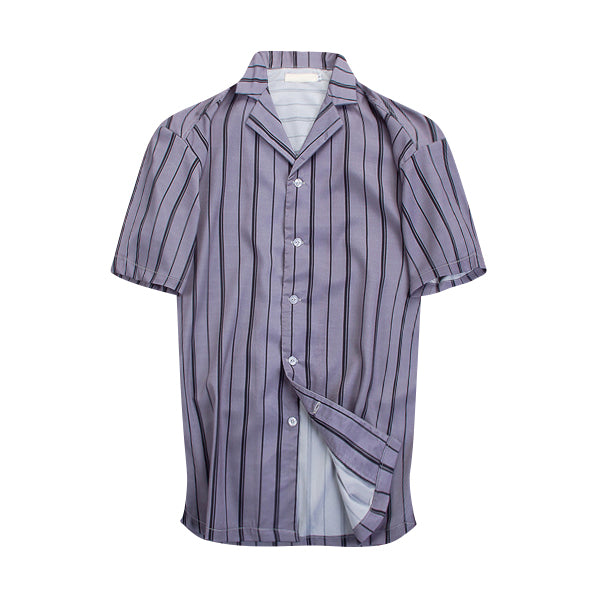 Striped Summer Shirt - Purple - Insurgence Wear - Affordable Streetwear Essentials