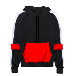 Terry Multi-Stripe Hoodie - Black - Quality Affordable Streetwear