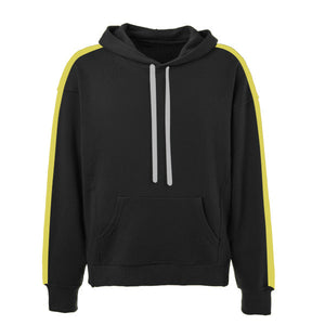 Oversized Stripe Drawstring Hoodie - Black/Yellow - Insurgence Wear - Affordable Streetwear Essentials