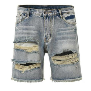 Ripped Denim Shorts - Blue - Insurgence Wear - Affordable Streetwear Essentials