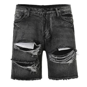 Ripped Denim Shorts - Black - Insurgence Wear - Affordable Streetwear Essentials