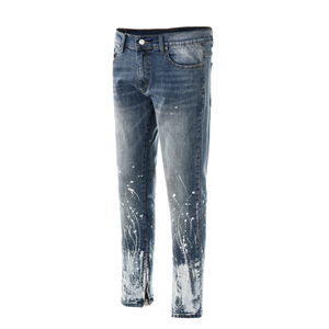 Splatter Zipper Denim - Blue - Quality Affordable Cheap Streetwear - Insurgence Wear