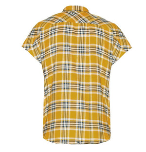 Plaid Sleeveless Shirt - Yellow - Premium Quality & Affordable Streetwear