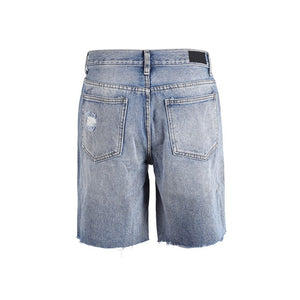 Ripped Denim Shorts S3 - Blue