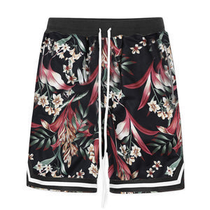 Floral Mesh Shorts S2 - Black - Insurgence Wear - Affordable Streetwear Essentials